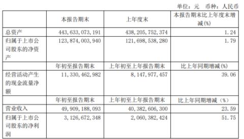 华能国际2021年第一季度净利31.27亿增长51.75% 售电量同比上升