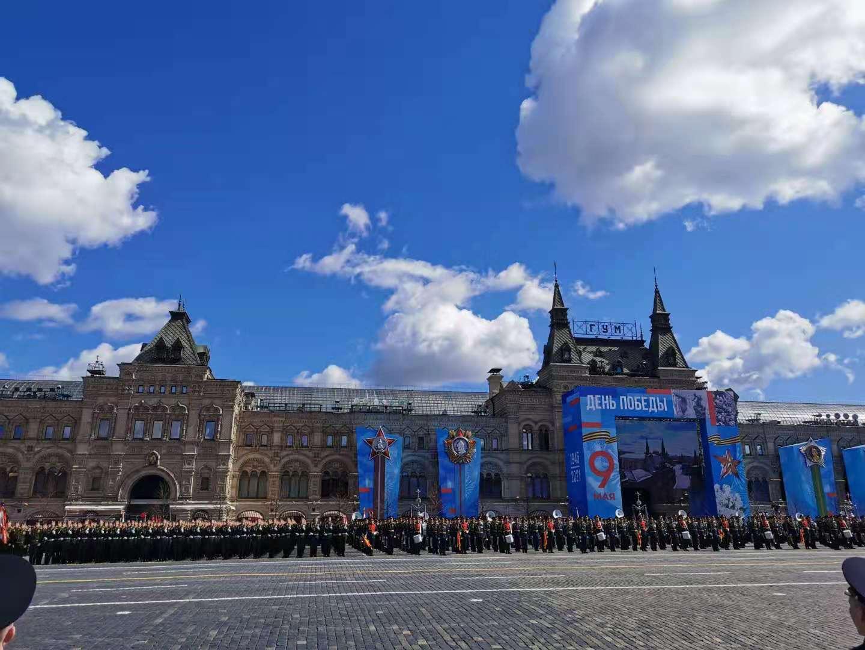 俄罗斯纪念卫国战争胜利76周年红场阅兵总彩排结束