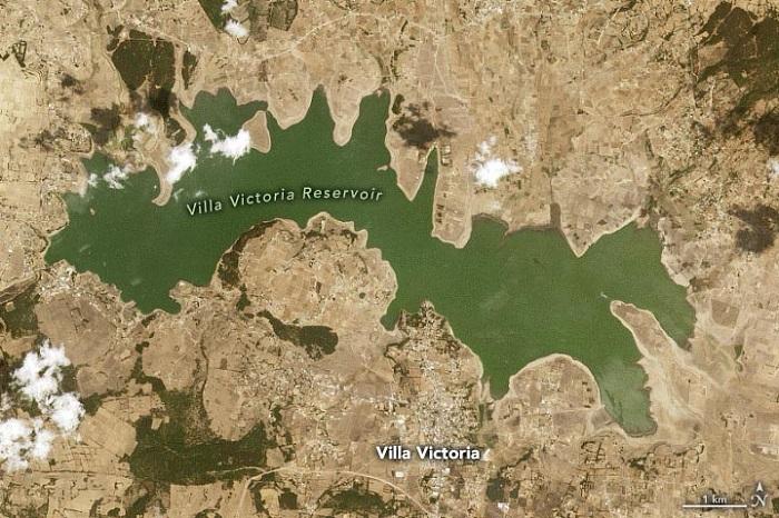 卫星图像揭示墨西哥将近85%区域遭遇干旱