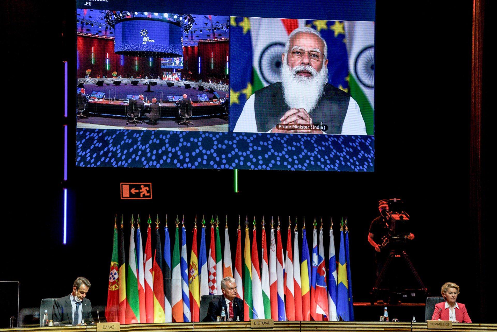 欧盟领导人与印度总理举行视频会晤