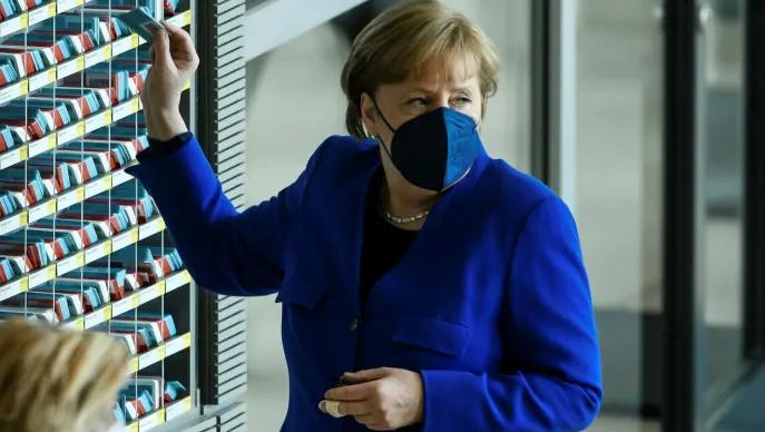 △德國總理默克爾(資料圖圖片來自《金融時報》)
