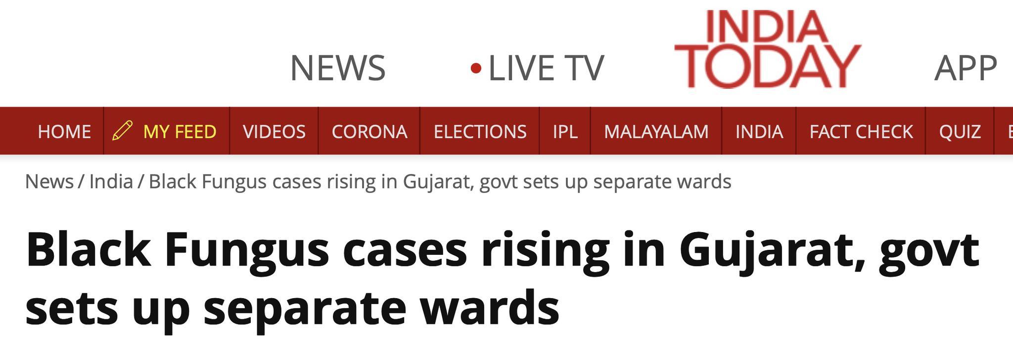 疫情肆虐之际,印度多名新冠患者康复后感染真菌失明或死亡