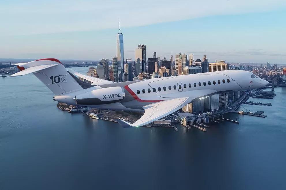 [多图]达索航空公布猎鹰10X公务机 拥有长航程与同级别最大的机舱