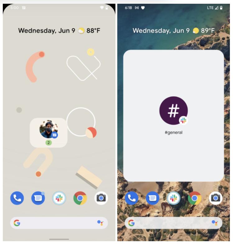 Android 12对话小部件亮相:支持多应用,可显示通知数量