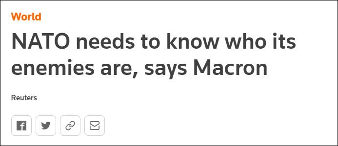 """马克龙:在印太地区,欧洲不要成为中美""""附庸"""""""