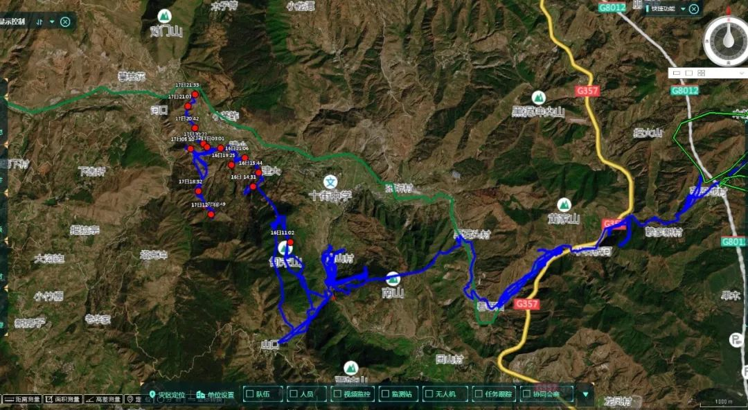 关注北迁亚洲象群(3):北迁象群被阻后向西移动图片