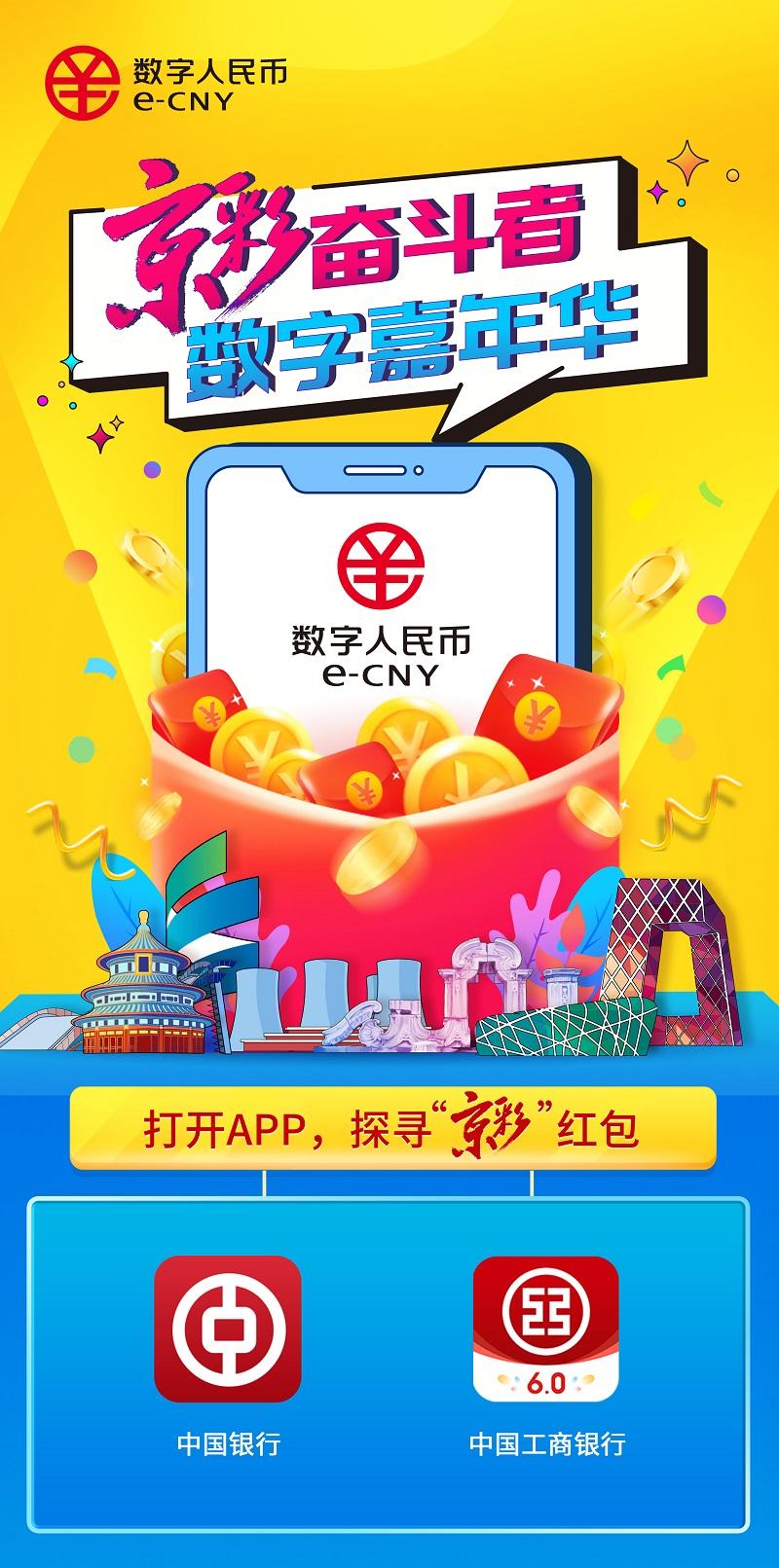 数字人民币来了!北京将发放20万份京彩红包