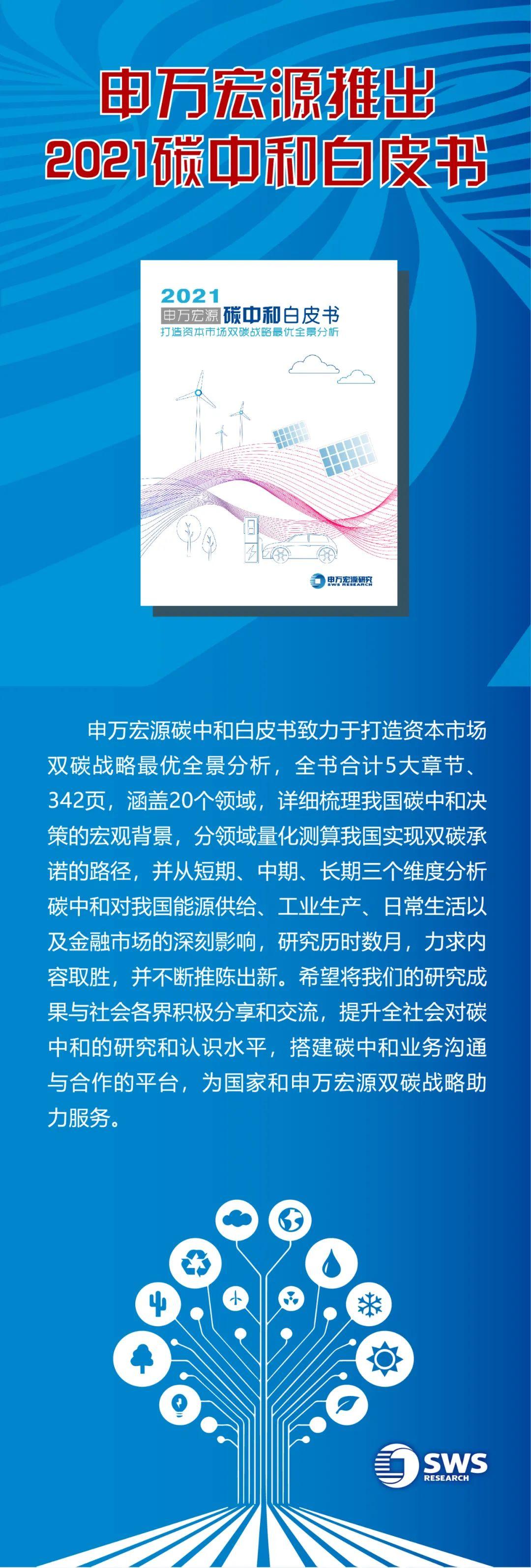 申万宏源推出2021碳中和白皮书