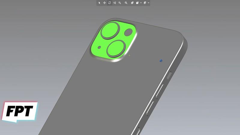 苹果iPhone 13 CAD图曝光:对角后置摄像头布局