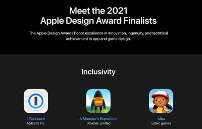 WWDC21即将到来,苹果设计奖入围名单揭晓