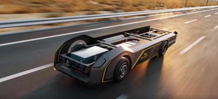 """Gaussin推出用于氢能卡车的""""滑板""""平台  承诺提供500英里的续航里程"""