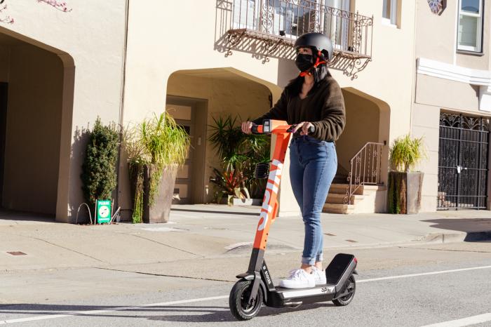福特微移动子公司Spin推出首款自制电动滑板车