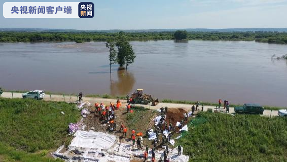黑龙江黑河段水位持续上涨 预计27日洪峰入境黑河