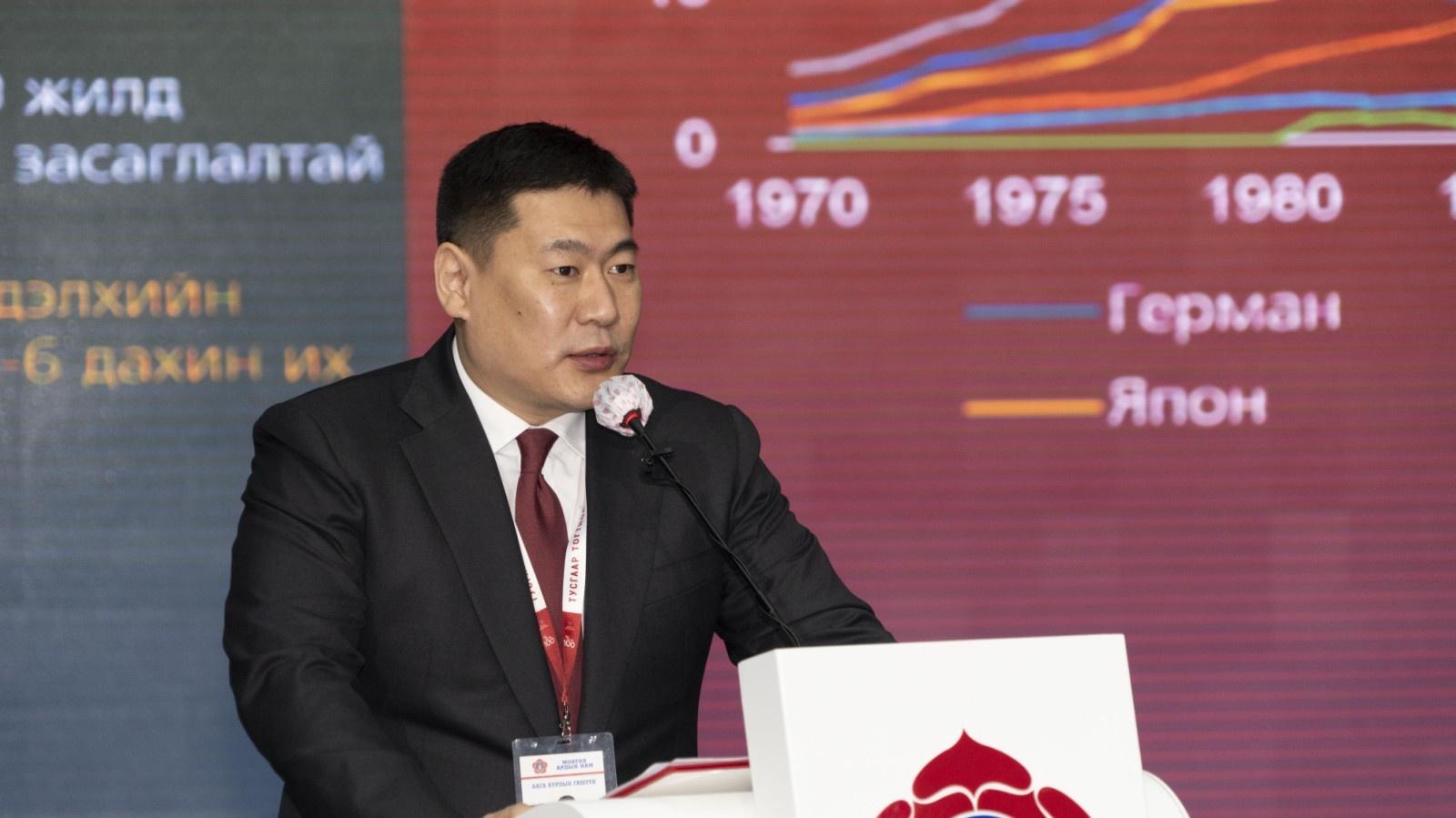 蒙古国总理奥云额尔登当选人民党主席