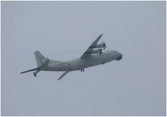 台防务部门紧盯:解放军1架次运-8反潜机今日进入台湾西南空域
