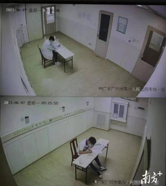 """两人都""""上线""""!广州两名新冠感染考生隔离病房考试今放榜"""