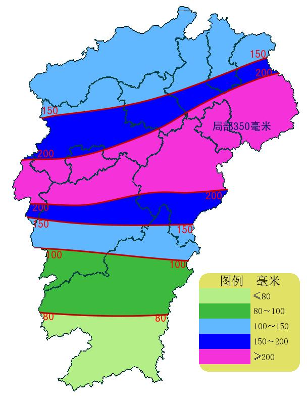 江西将出现持续暴雨天气 赣北南部到赣中北部为暴雨重叠区