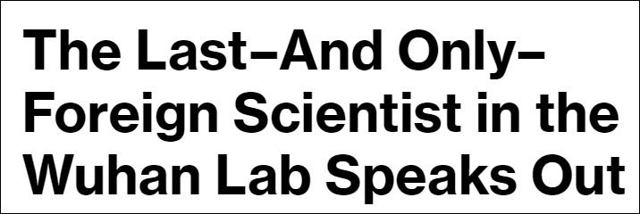 """""""2019年底,我在武汉病毒所工作""""…澳科学家通过美媒发声"""