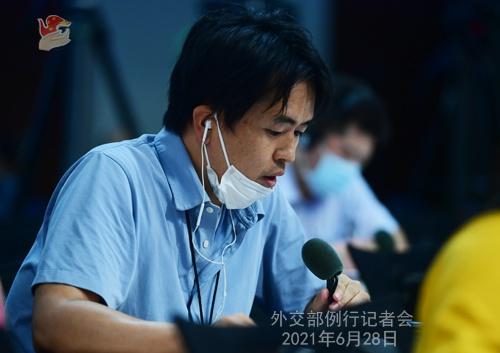 6月28日外交部例行记者会(全文)