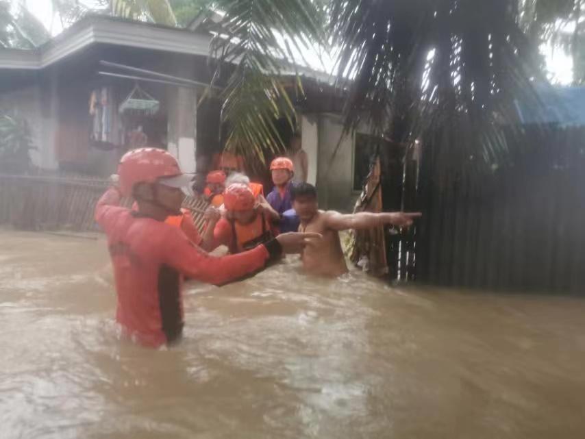 """今年第3号台风""""彩云""""8次登陆菲律宾 已致4人死亡"""