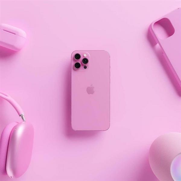 配件厂商分享玫瑰粉色顶配版iPhone 13渲染图:12月到来