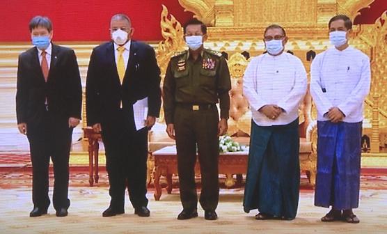 缅甸军方领导人会见东盟官员