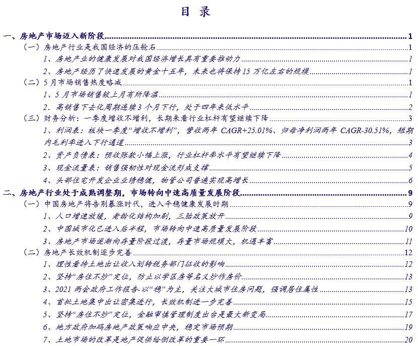 【银河地产潘玮/王秋蘅】行业动态 2021.5丨5月销