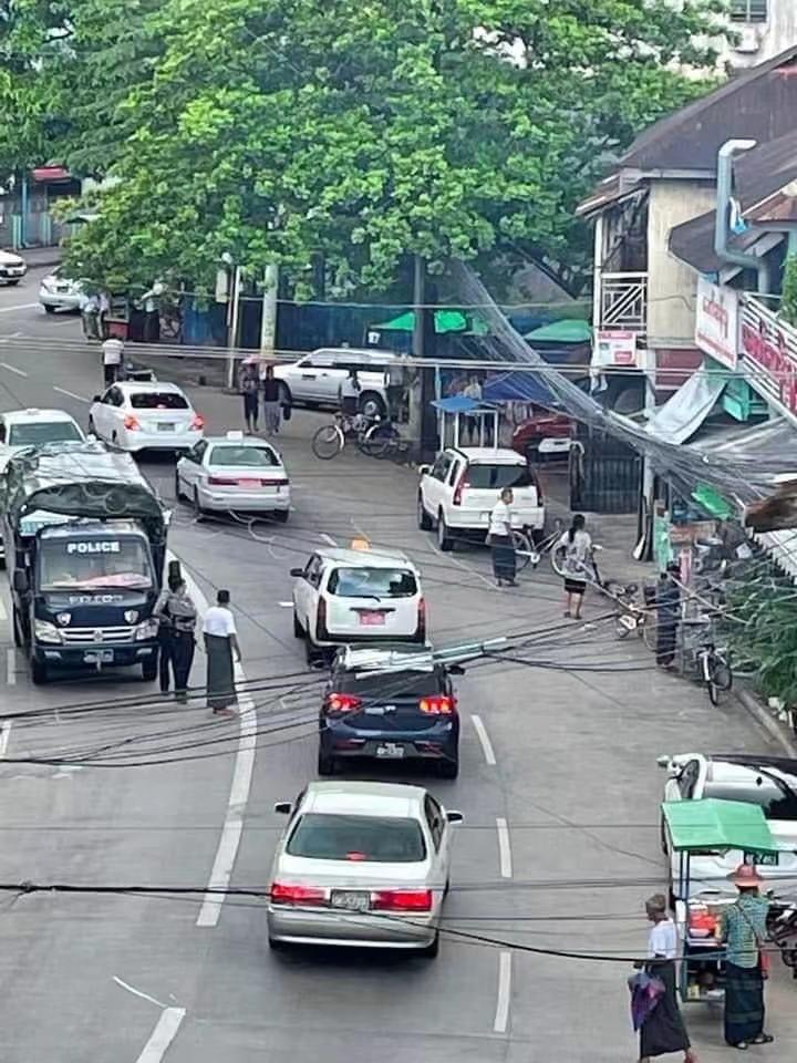 缅甸仰光散羌镇区发生爆炸 两人受伤