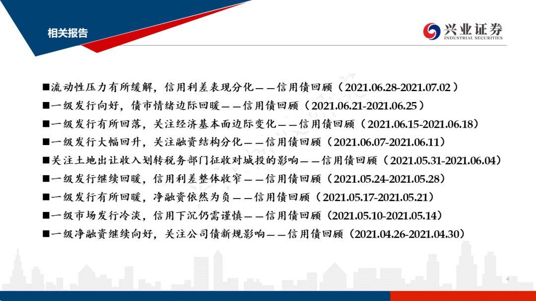 【兴证固收.信用】央行全面降准,信用债收益率持续下行——信用债回顾