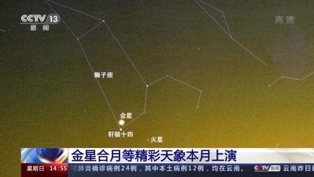 肉眼可见!金星合月等精彩天象本月即将上演