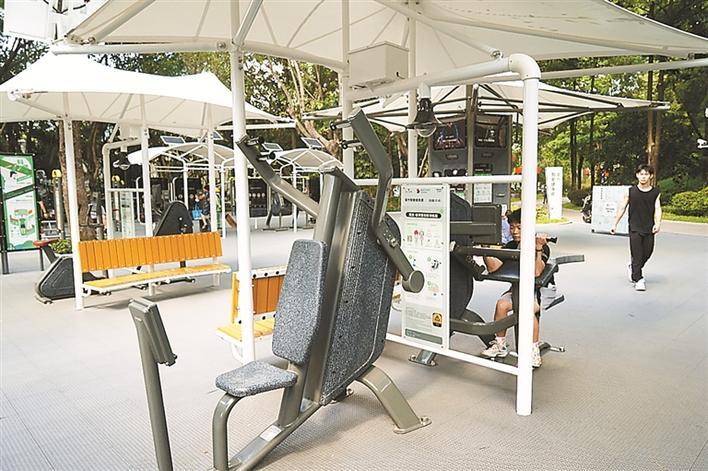 ▲提升后的大沙河公园南健身场。 受访单位供图