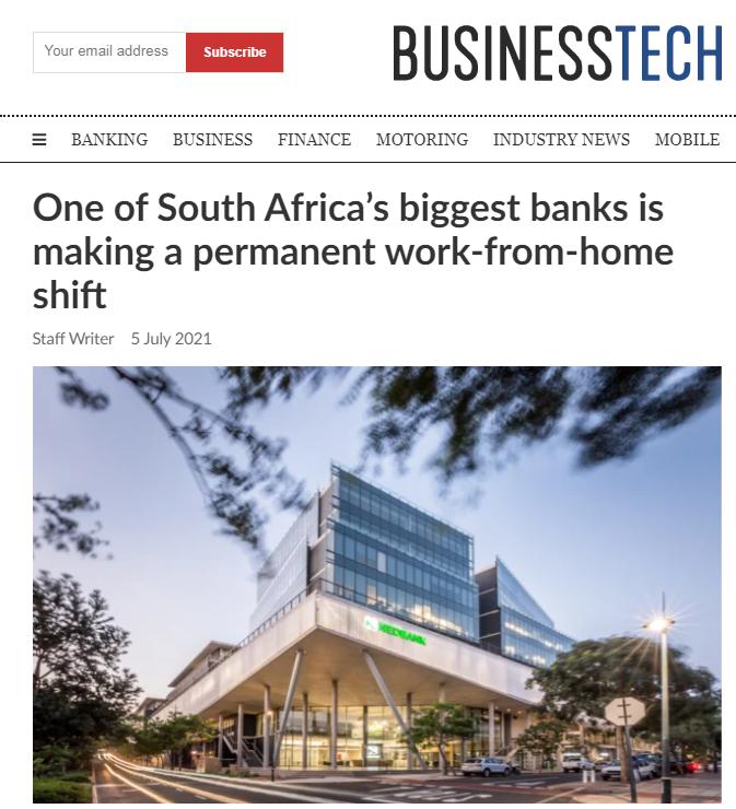 南非部分银行将实施永久性在家办公