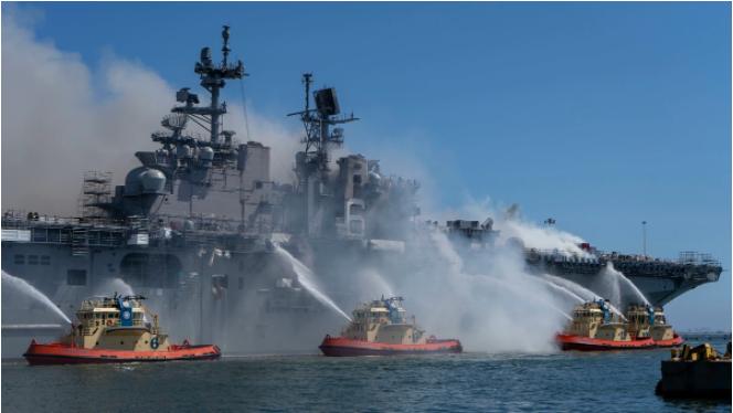 """""""好人查理""""号军舰火灾一年了 美国海军依然不解释"""