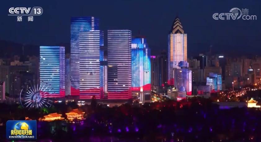 璀璨灯光 致敬党的百年征程