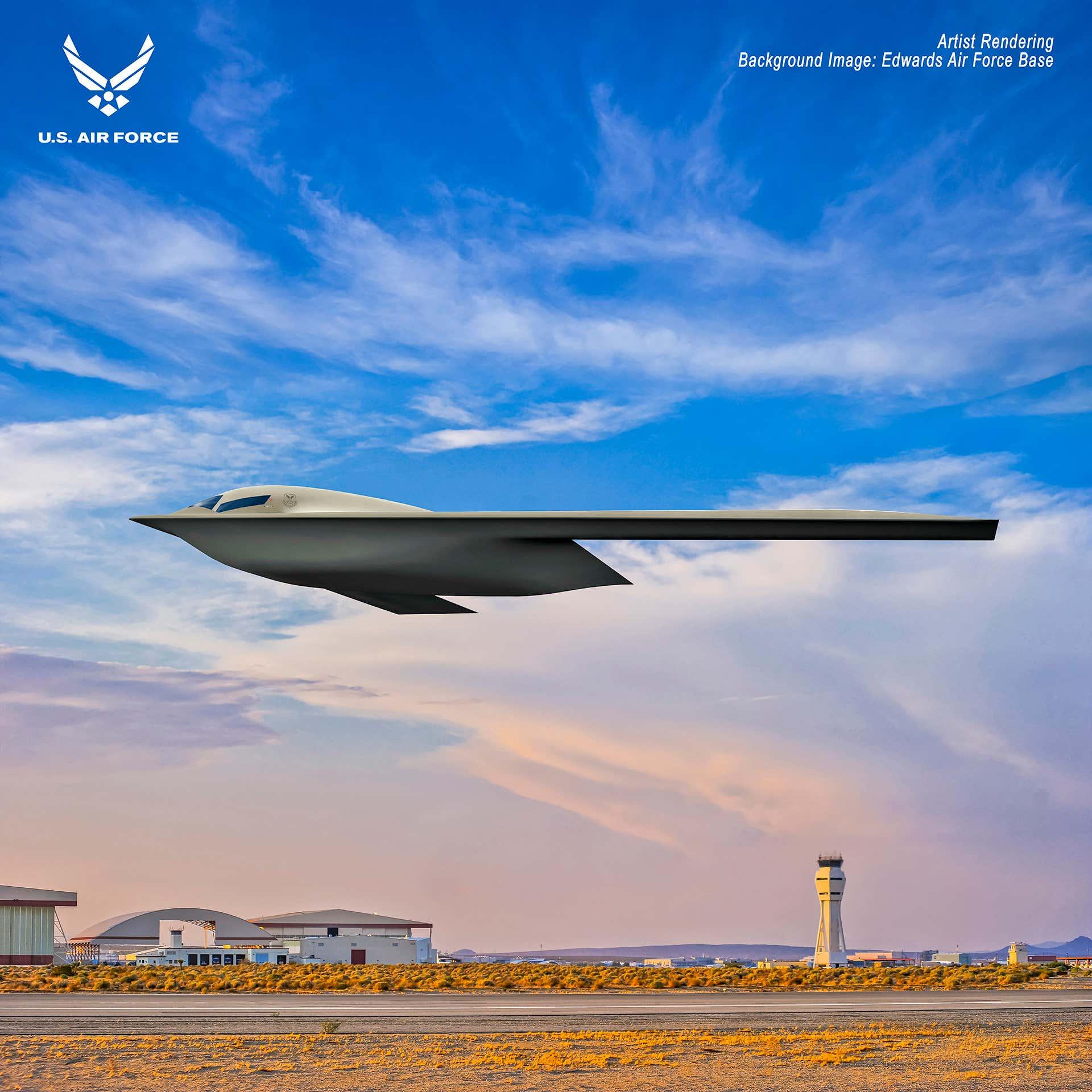 美军公布B-21隐身轰炸机最新图片,计划明年首飞