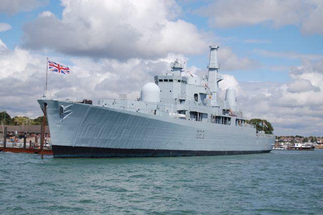 英国唯一82型驱逐舰挂牌出售 此前已停靠港口30年