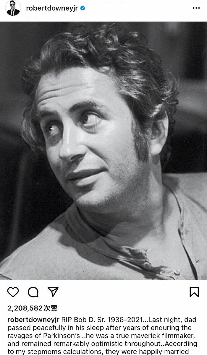 """""""钢铁侠""""父亲老罗伯特-唐尼去世,享年85岁"""