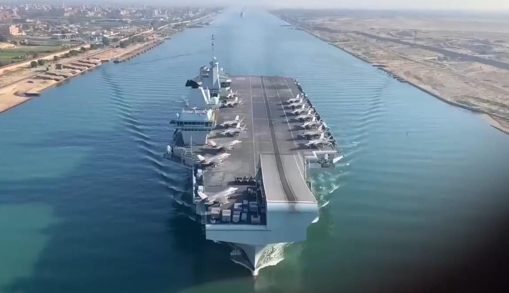 英国女王号航母已经抵达红海 开始第二阶段部署行动