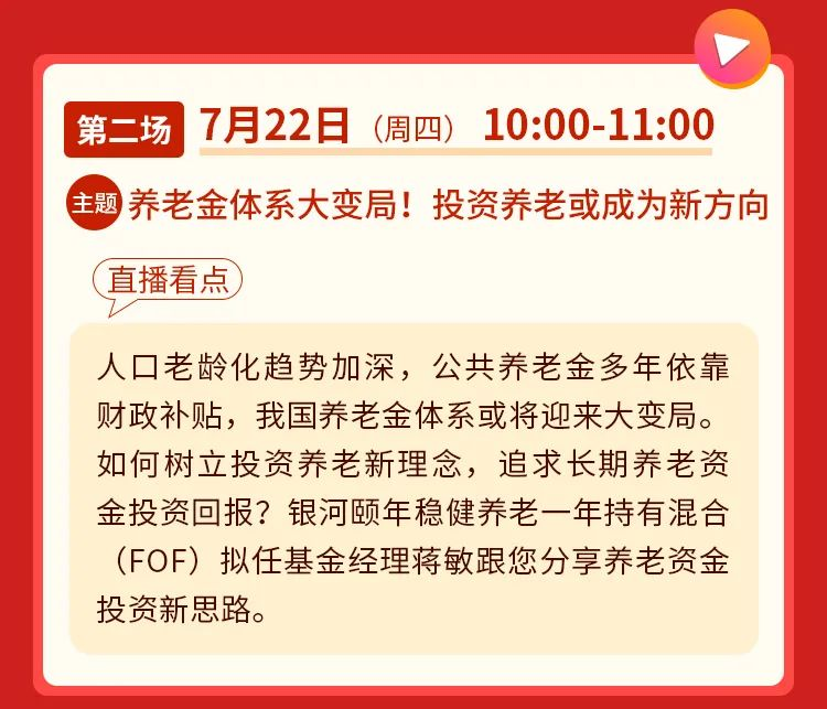 直播预告 | 7月12日上午10点,银河基金走进FOF直播节与您不见不散!