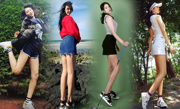 韩国高球腿精肤白貌美不逊宣美