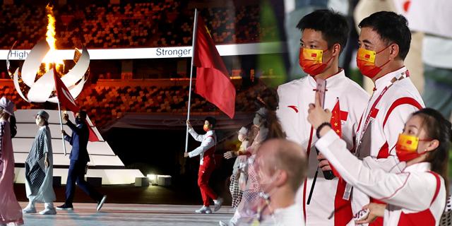 蘇炳添引領中國運動員入場閉幕式