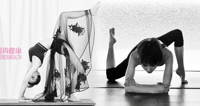 女星王子文瑜伽健身秀完美身段