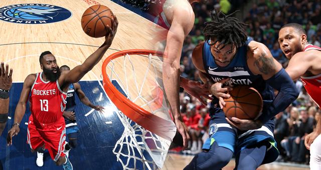 [NBA季后赛]单节狂轰50分 火箭3-1森林狼