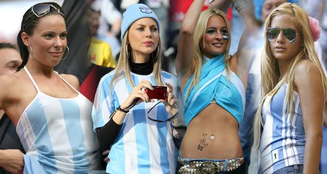 南美风情!盘点阿根廷队美女球迷
