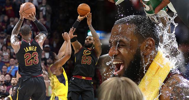 [NBA季后赛]詹姆斯3分绝杀 总分骑士3-2步行者
