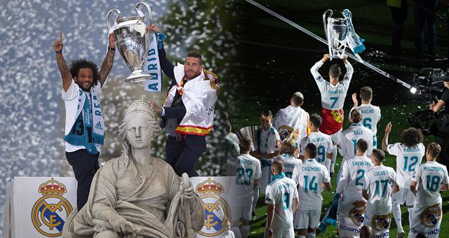 皇马举行冠军游行 C罗成最大焦点