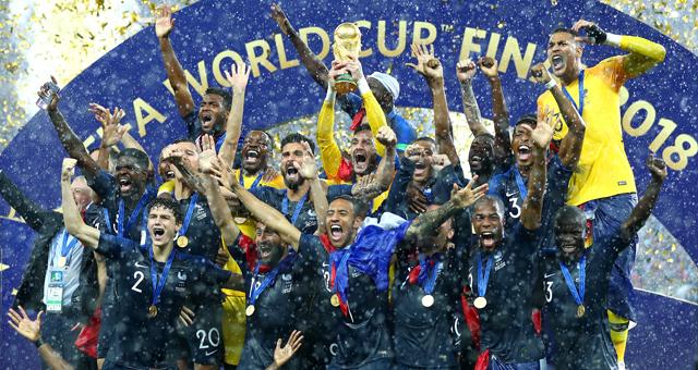 博格巴姆巴佩破门 法国4-2克罗地亚夺冠