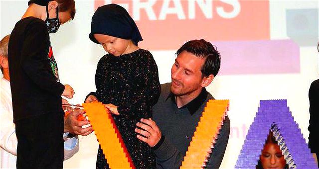 梅西太暖了!参加慈善活动陪伴关爱癌症儿童