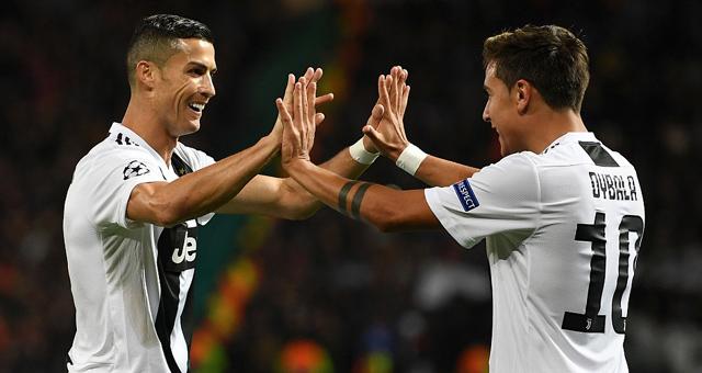 欧冠-C罗助攻迪巴拉 尤文客场胜曼联
