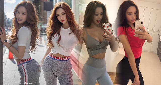 韩国网红嫩模健身美照 美腿细腰凹凸有致